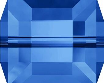 Swarovski Crystal Cube Beads 5601 - 4mm 6mm 8mm - Sapphire