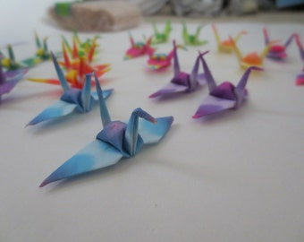 100 Colorful Origami Paper Cranes
