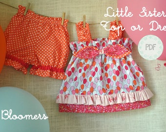 Little Sister Top Or Dress And Bloomers Baby Toddler Girls