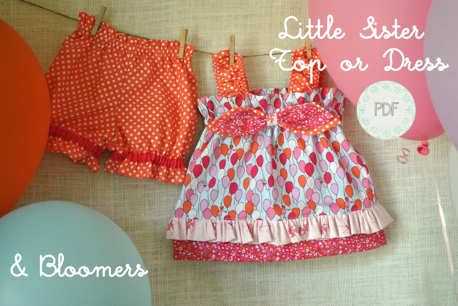 Little sister top or dress and bloomers baby toddler girls zoom jeuxipadfo Image collections