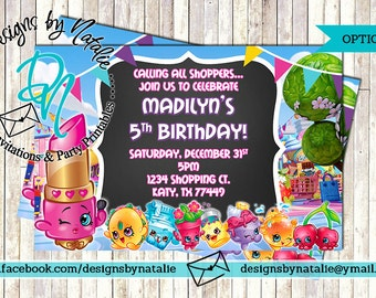 Shopkins Invitation
