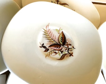 "Vintage 50's ""SQUARE SAUCER PLATES"" by Taylor Smith Taylor -  Service for 6 from the Conservations Collection"