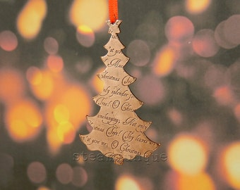 Copper Christmas decoration, copper Christmas tree, Christmas tree decoration, rustic christmas decoration, copper decoration, handcut