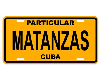 Matanzas - Cuba Decorative License Plate - Chapa Cuba