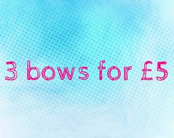 Triple pack of bows. Mixed sizes