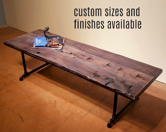 Coffee Table, Reclaimed wood table, Rustic Coffee Table, Farmhouse Table, Sofa Table, Accent table, Low Dining Table, Custom sizes available