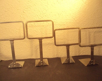 Antique store display sign holders set of 4 grocery store 2 sizes