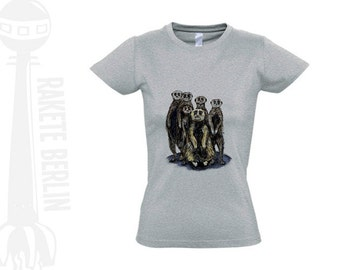 Lady T-Shirt 'Meerkats'