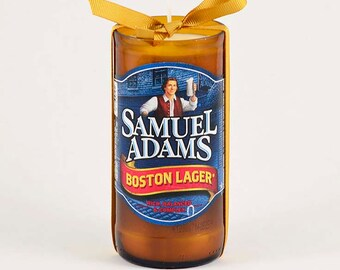 Samuel Adams Boston Lager Beer Bottle Candle American USA Patriot US Boston Massssachusetts America Boston Beer Company Sam Adams Beer Gift