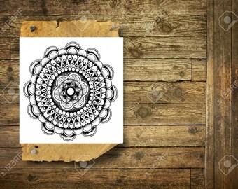 Boho mandala - Temporary Tattoo