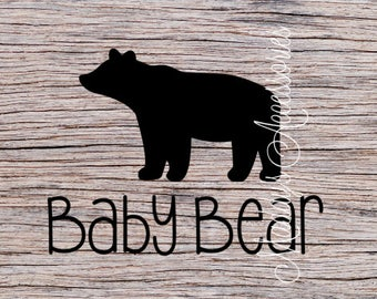 Iron on decal - Baby Bear - baby / child clothing accessory