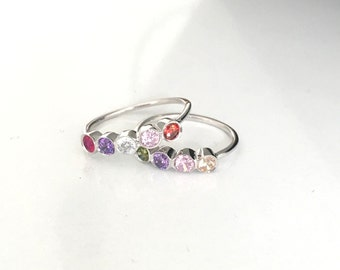 Birthstone Ring ~  Mothers Ring ~  Personalized Ring ~ Family Ring ~  Personalized Family Ring ~  October Jewelry ~  Stacking ring