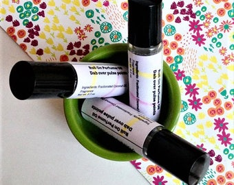 Coconut Lime Roll On, Scented Roll On Perfume Oil, Concentrated Body Fragrance, Perfume Oil