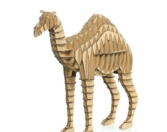 Camel 3D Cardboard Puzzle,3D Puzzle Game,Cardboard Puzzle,Cardboard Toy,Cardboard Game,Eco Accessory,Eco Present