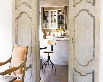 SOLD - Antiqued Double Doors