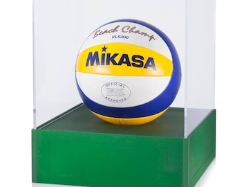Volleyball Display Case - Aluminum Modern Display Case