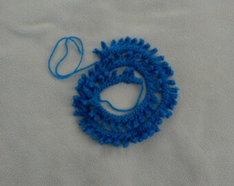 Crocheted Edging Picot Blue Trim