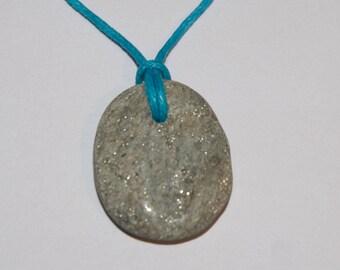 Rosie's Stoneage beach pebble pendant necklace - West Bay #4364