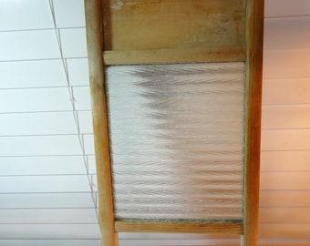 Small Glass Vintage Washboard, Wall Decor Wash Board
