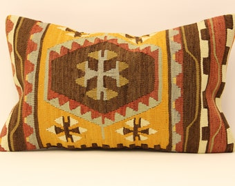 kilim pillow cover.12x20 Turkish handmade  decorative home design OE-16