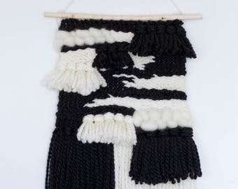 Black & White Woven Wall Hanging