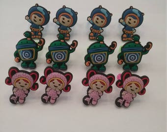 Lot of 12 Team Umizoom Rings Party Favors Cupcake Toppers