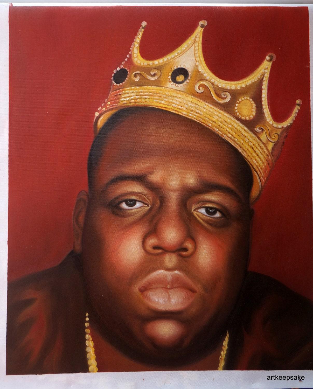Notorious BIG Biggie Smalls hip hop art oil painting on
