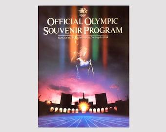 Nouveau livre de programme Souvenir de 1984, programme officiel des Jeux olympiques, Los Angeles, livre de programme olympique Vintage, aux Jeux olympiques de NewYorkMarketplace sur Etsy