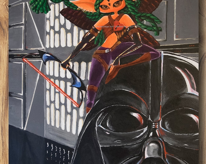 "They Had Cookies - 11x14"" Repro Print - Fae Muse with Darth Vader – Star Wars Love - MuseArt"