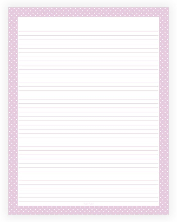 purple lined paper