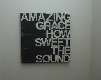 amazing grace 12x12 hand painted canvas