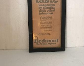 Vintage Advertising Sign * Vintage Tobacco Sign * Virginia Tobacco * Cigarette Sign * Framed Tobacco Sign * Handmade