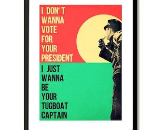 Tugboat Galaxie 500 inspired Poster Art Print