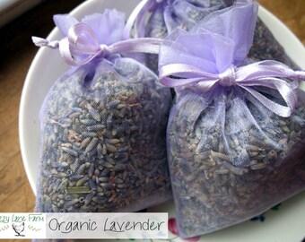 ORGANIC LAVENDER Sachet Bags- 20 Lavender Sachet Bags | FRAGRANT Lavender buds Sachets/favors | lavender wedding Sachets | Lavendar Sachet