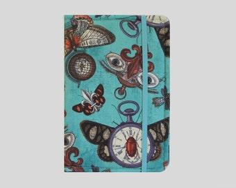 Kindle Cover Hardcover, Kindle Case, eReader, Kobo, Kindle Voyage, Kindle Fire HD 6 7, Kindle Paperwhite, Nook GlowLight Steampunk Moths