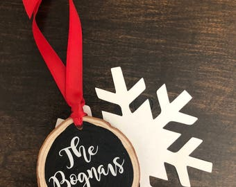 Personalized Wedding Gift for Couple, First Christmas Wedding Ornament, Christmas Ornaments, First Christmas Ornament,Married Ornament, Wood