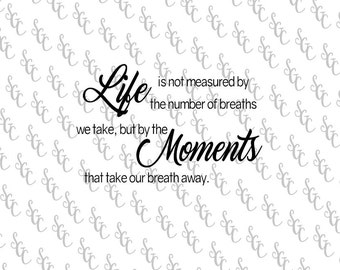 Reusable Stencil - Life  Quote - 2 sizes to choose from!