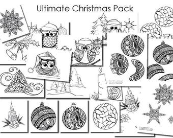 Ultimate Christmas Colouring In and Project Pack