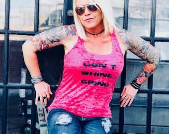 Women's Burnout Racerback Tank Pink