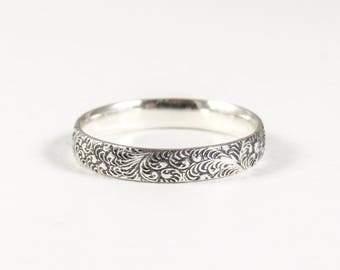 Vintage style ring etsy sterling silver vintage style ring thumb ring silver stacking ring antique style wedding junglespirit Image collections