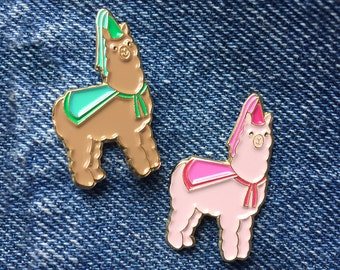 Princess Alpaca Enamel Pin/ Lapel Pin Brooch