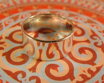 Mothers Day Sale Smooth Cigar Band Style Sterling Silver Handmade 6mm Wide Ring