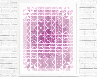 Purple Print, Nursery Art, Children's Art, Wall Art Printable, Patterns, Minimilist Art