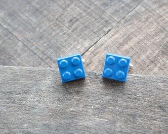 blue lego cufflinks