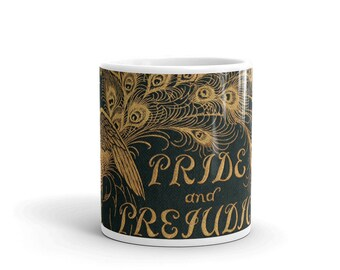 Pride and Prejudice Coffee Mug | Jane Austen Gifts | Mr Darcy | Elizabeth Bennet | Bookcover | literary gift | book lover | Gift for Her