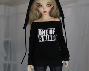 Minifee BJD KPop Shirt, MNF Black Shirt 1/4 Size Doll Clothes - MSD abjd - Casual Style