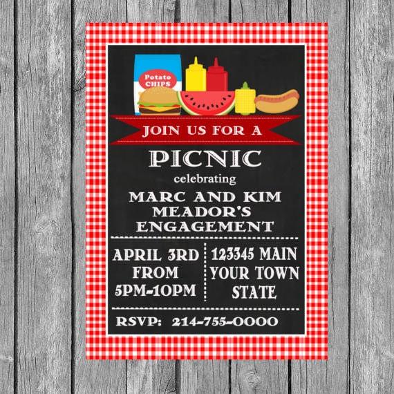 Picknick Einladung Picknick Geburtstag Picknick lädt