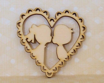 in a heart a couple lovers ideal for your cardmaking 1543
