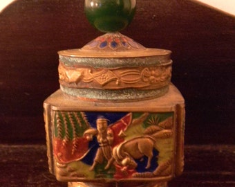 Vintage Chinese Cloisonne Covered Jar