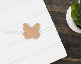 50 Butterfly Kraft Tag - Small